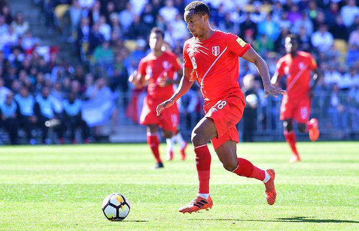 André Carrillo no pudo brillar en el ataque de la Bicolor. Foto: AFP