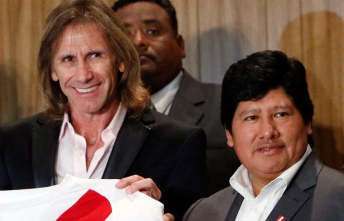 Ricardo Gareca y Edwin Oviedo (Foto: @Agencia_Andina)