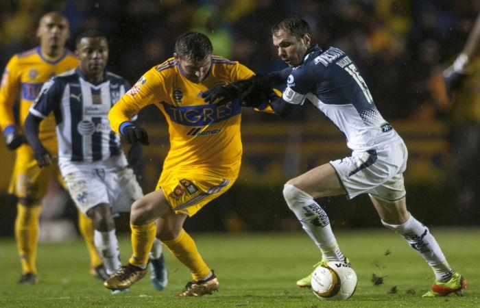 Tigres se enfrentó a Monterrey. Foto: AFP