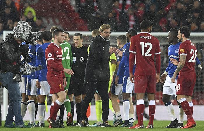 Liverpool vs Everton. Foto: AFP