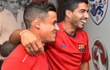 Luis Suárez aprueba la llegada de Coutinho y Griezmann al Barcelona