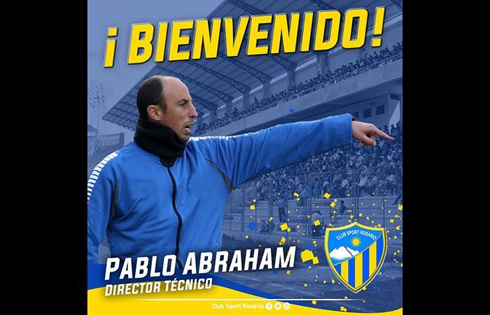 El argentino Pablo Abraham es el nuevo DT de Sport Rosario