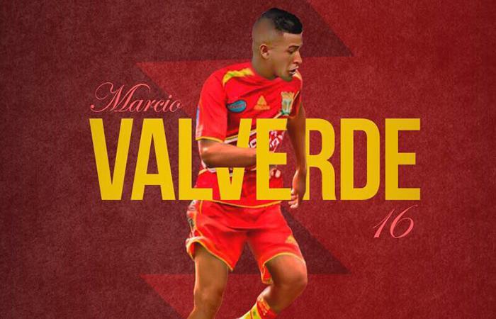 Marcio Valverde jugará en Sport Huancayo todo el 2018. Foto: Twitter