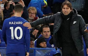 Conte le pidió a Hazard hacer más goles y no pensar en el Real Madrid