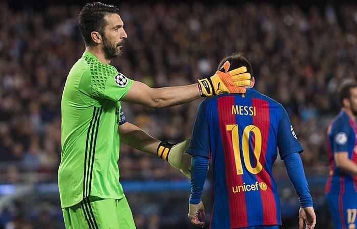 Gianluigi Buffon y Lionel Messi (Foto: twitter)
