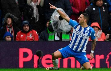 Knockaert marcó el primer gol del año en la Premier League