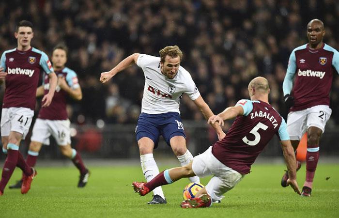 Tottenham y West Ham igualaron 1-1. Foto: AFP