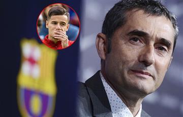 """DT del Barcelona: """"Coutinho nos puede ayudar mucho"""""""