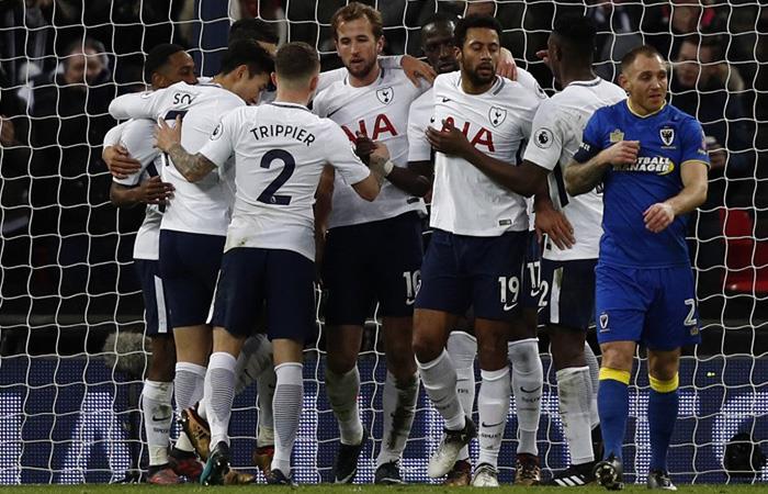 Harry Kane sumó sus primeros dos goles en este 2018. Foto: AFP