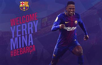 Barcelona fichó al defensor colombiano Yerry Mina