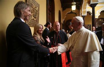 Ricardo Gareca cumplió el sueño de conocer al papa Francisco