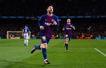 Lionel Messi anotó el gol 4000 del Barcelona en el Camp Nou