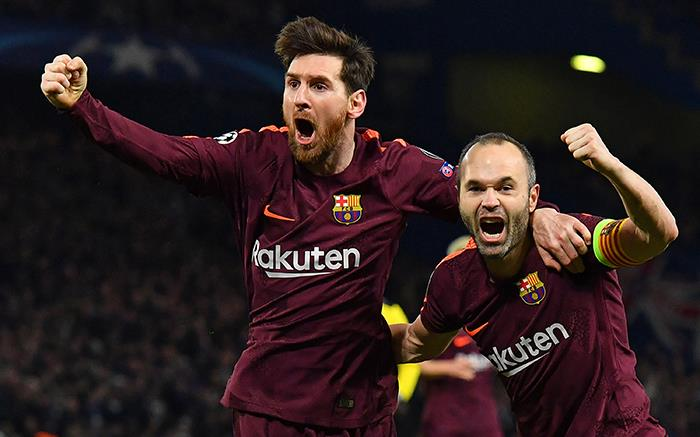 Messi marca el empate en Londres. Foto: AFP