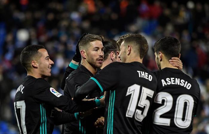 Sergio Ramos marcó el 3-1 a favor del Madrid. Foto: AFP