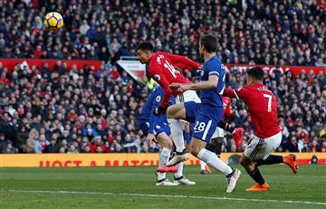 Manchester United derrotó al Chelsea y recupera el segundo lugar de la Premier League