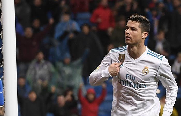 Doblete de Cristiano Ronaldo en el 3-1 sobre el Getafe (Foto: AFP)