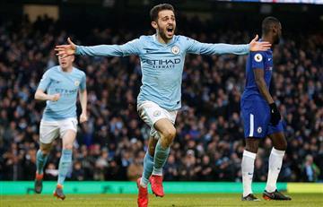 Manchester City derrotó al Chelsea y cada vez está más cera del título de la Premier