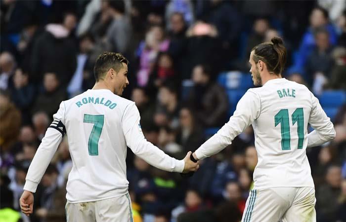 Cristiano Ronaldo y Gareth Bale. Foto: AFP
