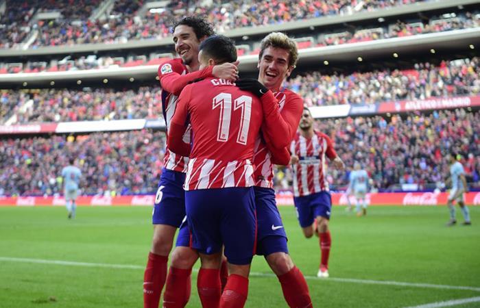 Atlético de Madrid venció por 3-0 al Celta. Foto: AFP