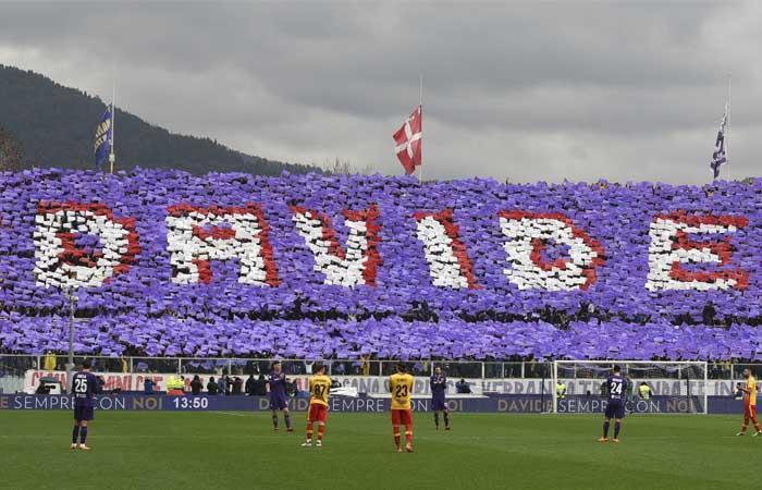 Fiorentina y su emotiva despedida a Davide Astori