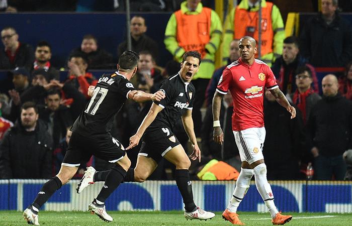 Sevilla a cuartos de final de la Champions League tras vencer al Manchester United