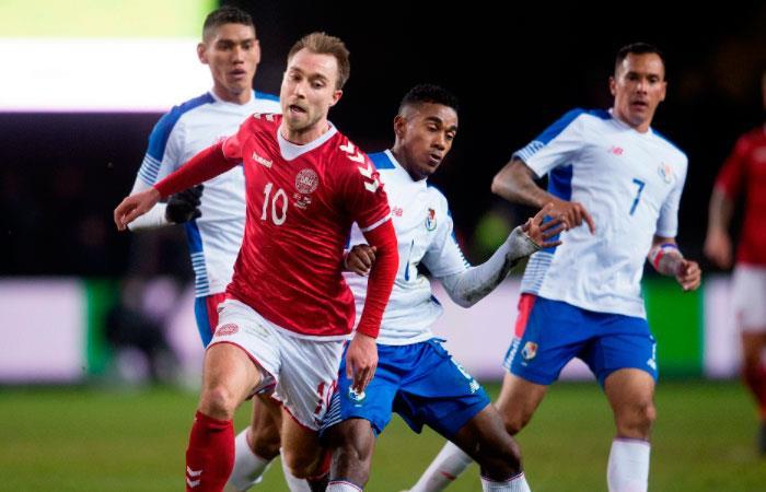 Dinamarca le ganó con lo justo a Panamá en un amistoso jugado en Brondby