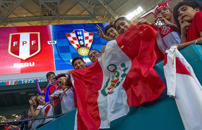 Hinchas de la Selección Peruana (Foto: EFE)