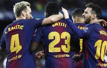 Barcelona con pie y medio a las semifinales de la Champions League