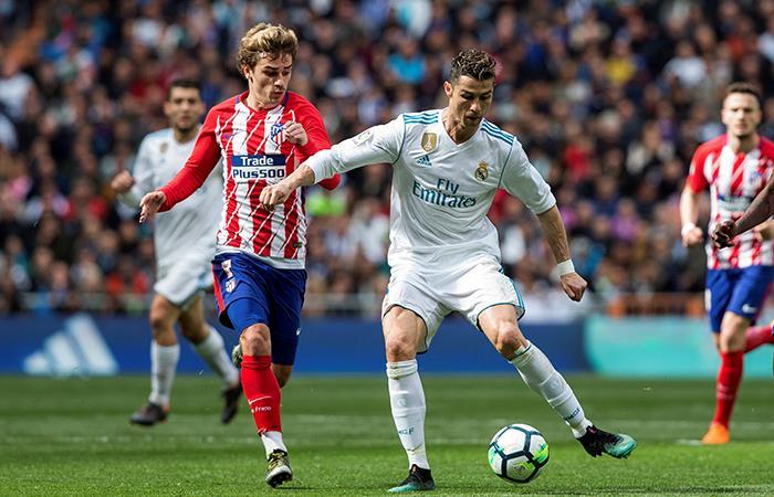 Ronaldo y Griezmann anotaron en el derbi madrileño (Foto: EFE)