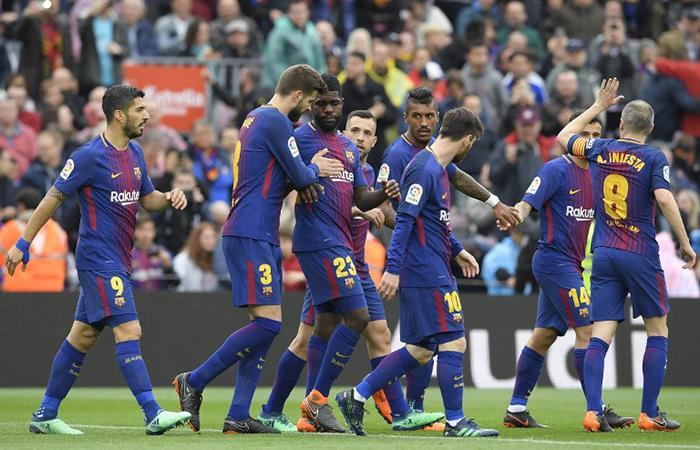 Barcelona venció a Valencia por 2-1 (Foto: AFP)