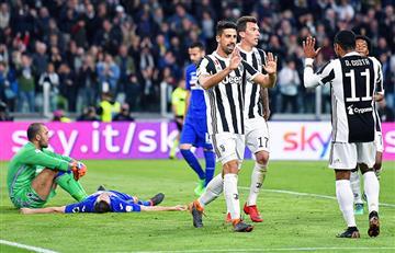La Juventus goleó a la Sampdoria y se encamina rumbo al heptacampeonato en Serie A