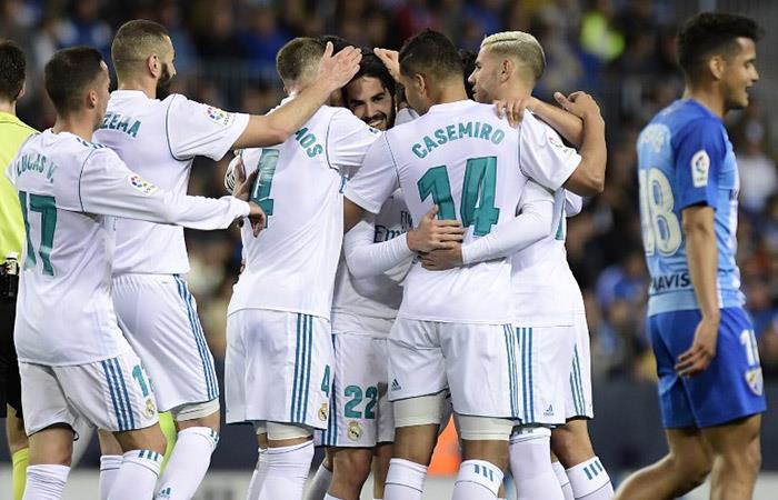 Real Madrid se impuso por 2-1 al Málaga (Foto: AFP)