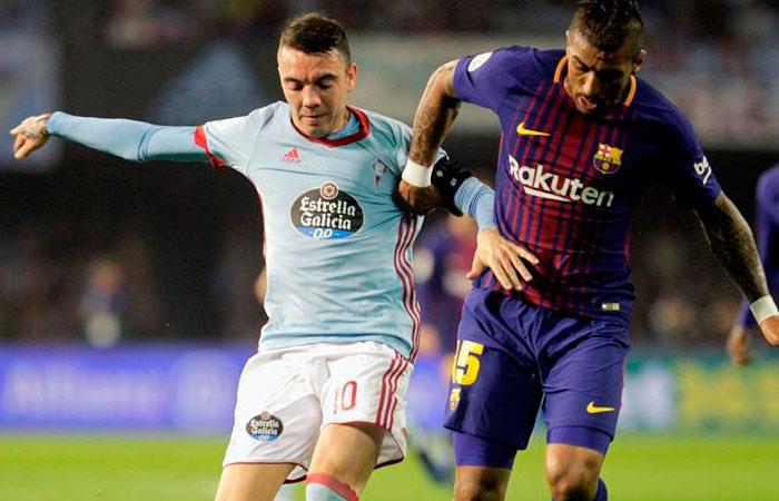 Celta de Viga vs Barcelona. Foto: EFE