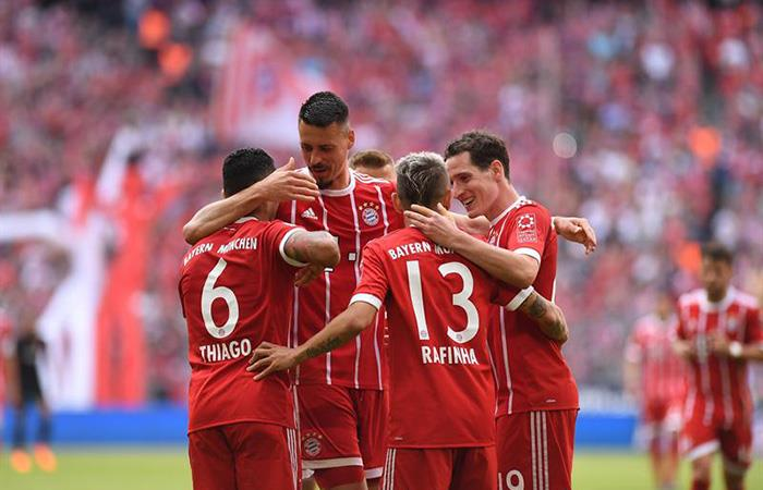 Bayern Múnich vs Eintracht Frankfurt, Bundesliga 2018 — Partido en vivo