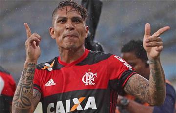 Paolo Guerrero anotó en derrota del Flamengo en el Brasileirao