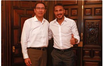 Paolo Guerrero recibió respaldo del presidente Martín Vizcarra
