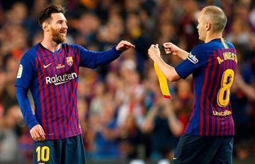 Barcelona gana en el Camp Nou en el último partido de Andrés Iniesta