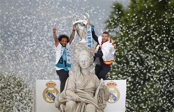 Real Madrid llegó a España y celebró la decimotercera Champions