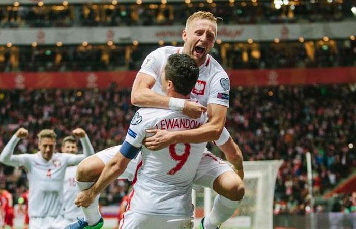 Selección de Polonia. Foto: AFP