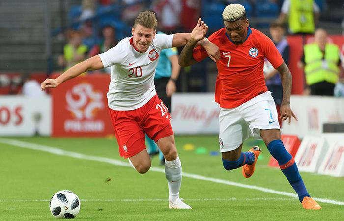 Polonia igualó con Chile. Foto: EFE
