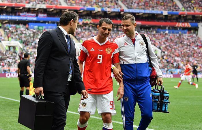 Mundial Rusia 2018: Alán Dzagóyev es el primer lesionado del torneo
