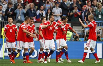 Rusia apabulló a Arabia Saudita en el partido inaugural del Mundial