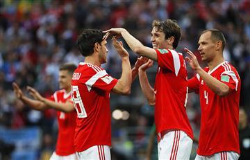 Rusia consiguió la segunda mayor goleada en el partido inaugural de los mundiales