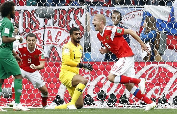 Rusia vs Arabia Saudita: así fue el primer gol del Mundial
