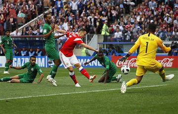 Rusia vs Arabia Saudita: Cheryshev convirtió el segundo gol para los locales