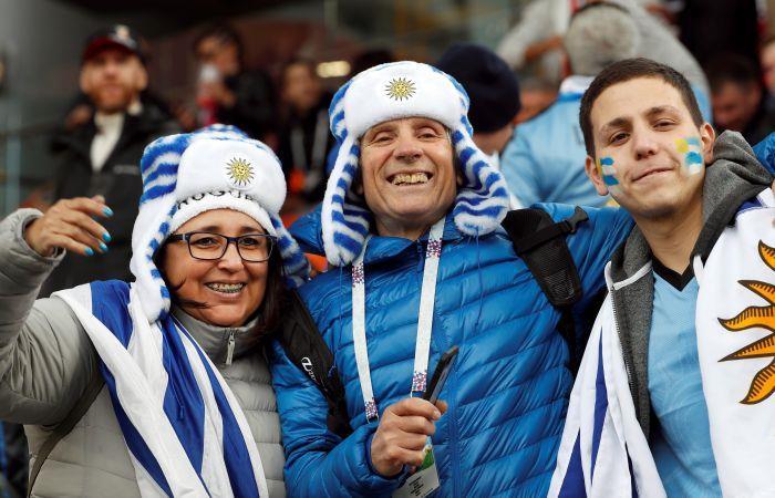 Uruguay vs Egipto. Foto: EFE
