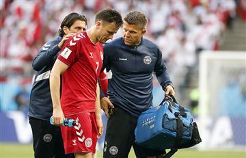 Perú vs Dinamarca: jugador danés podría perderse el Mundial tras chocar con Farfán