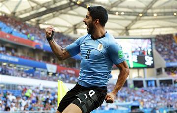 Luis Suárez marca su primer gol en el Mundial Rusia 2018