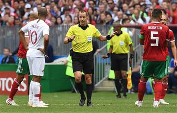 Rusia 2018: ¿árbitro le pidió la camiseta a Pepe en el descanso del Portugal vs Marruecos?