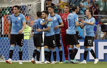 Uruguay consiguió su boleto a los octavos de final del Mundial Rusia 2018
